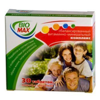 Био макс 30 табл цена 199 руб в Москве, купить Био макс 30 табл инструкция по применению, отзывы в интернет аптеке