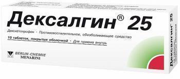 Дексалгин 25 - инструкция по применению, описание, отзывы пациентов и врачей, аналоги