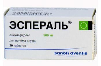 Препарат для лечения алкоголизма Эспераль: инструкция по применению и отзывы