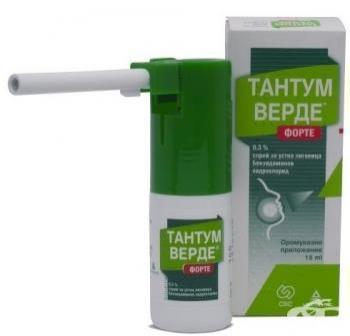 Тантум Верде форте - инструкция по применению спрея