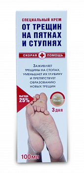 Скорая помощь Крем для пяток против трещин 100 мл (Фора-Фарм) - купить в аптеке по цене 108 руб., инструкция по применению, описание