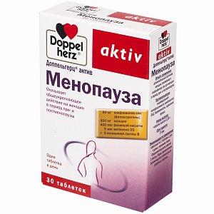 Doppelherz Актив Менопауза таблетки 30 шт. (Queisser Pharma [Квайссер Фарма]) - купить в аптеке по цене 605 руб., инструкция по применению, описание
